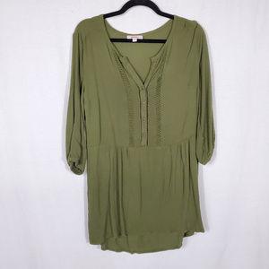 Bongo Button-Down 3/4 Sleeve Tunic•Size M•